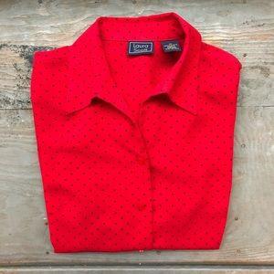 VINTAGE Laura Scott button up blouse size 10